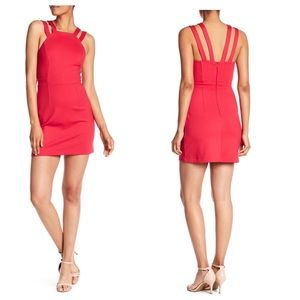 French Connection Whisper Lula Red Dress NWOT